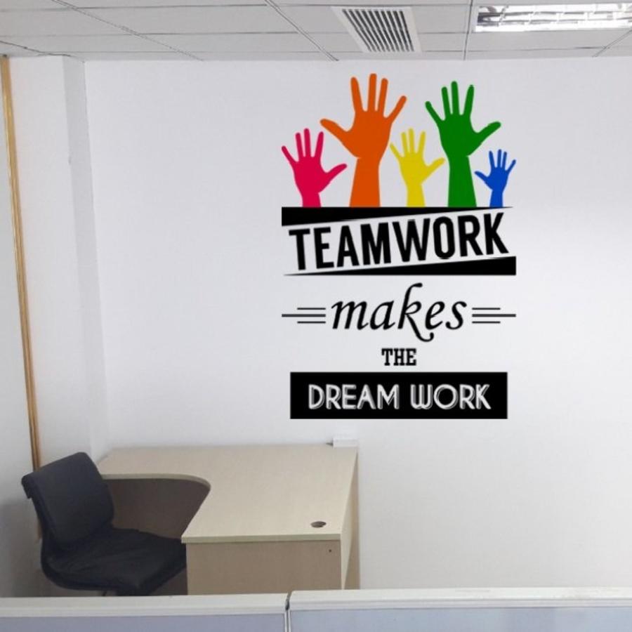 Decal văn phòng teamwork