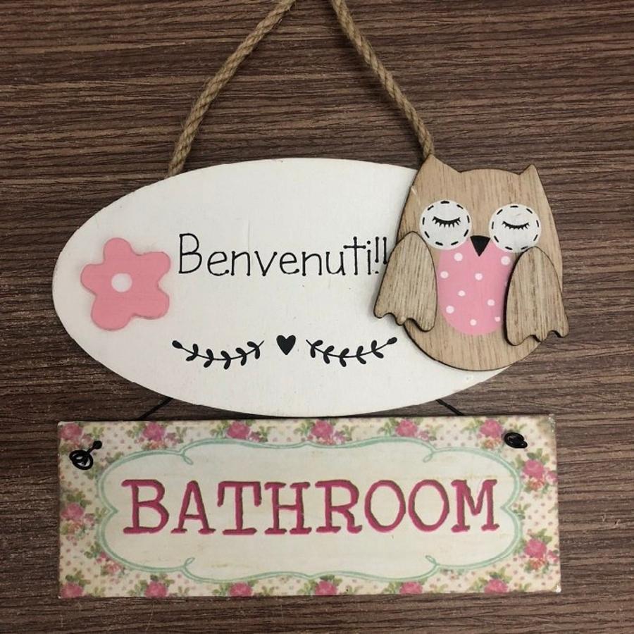 Bảng treo cú mèo Bathroom 3