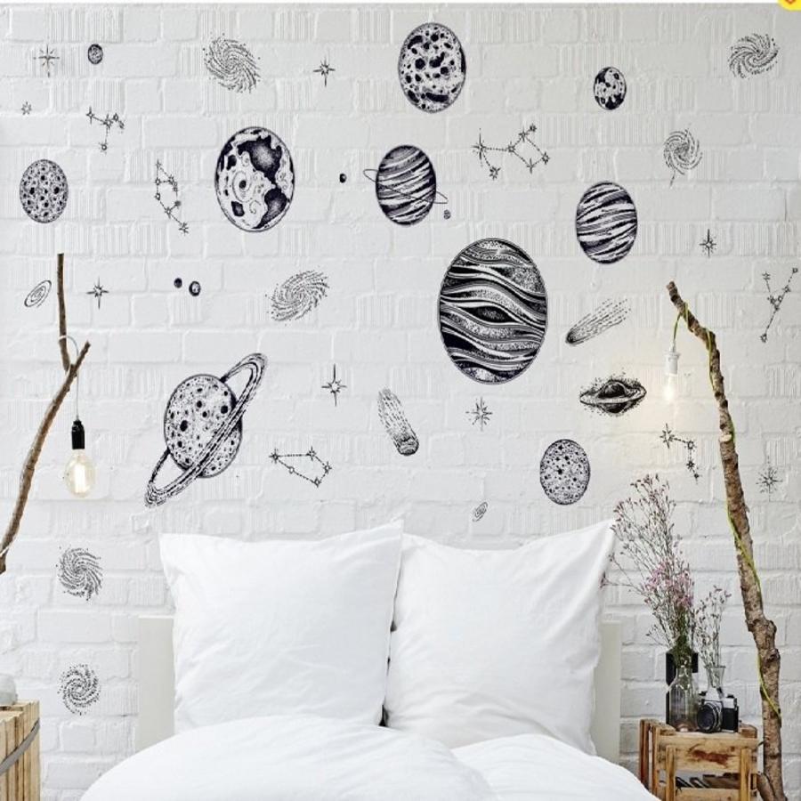 Decal dán tường những hành tinh nhỏ