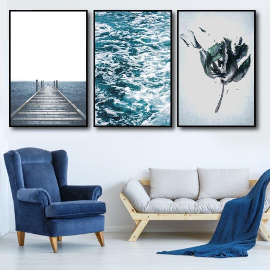 Tranh treo tường biển xanh 5