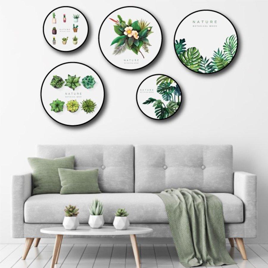 Bộ tranh treo tường lá xanh nhiệt đới 6