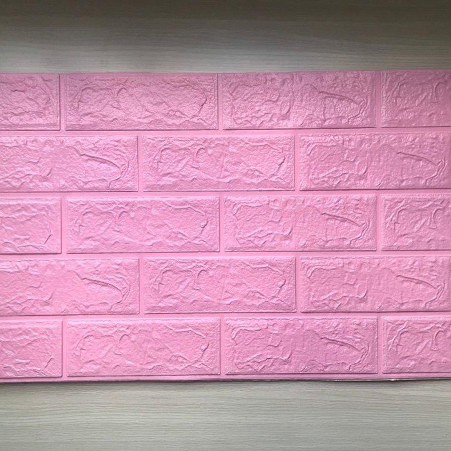 Xốp đá dán tường giá rẻ màu hồng
