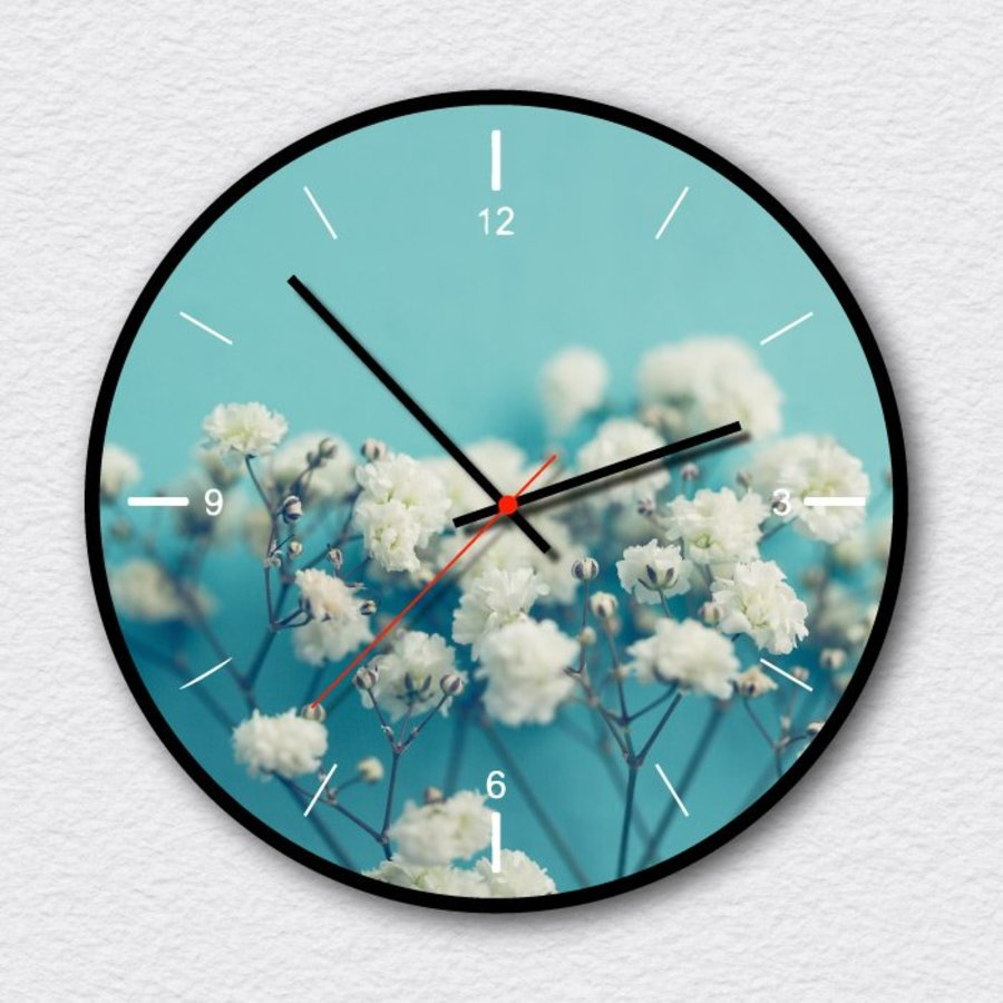 Đồng hồ vintage hoa trắng nhỏ 2