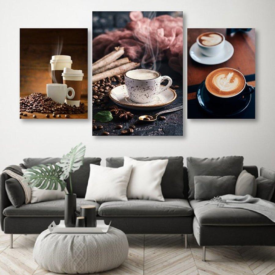 Bộ Tranh Treo Tường Hương Vị Coffee 2