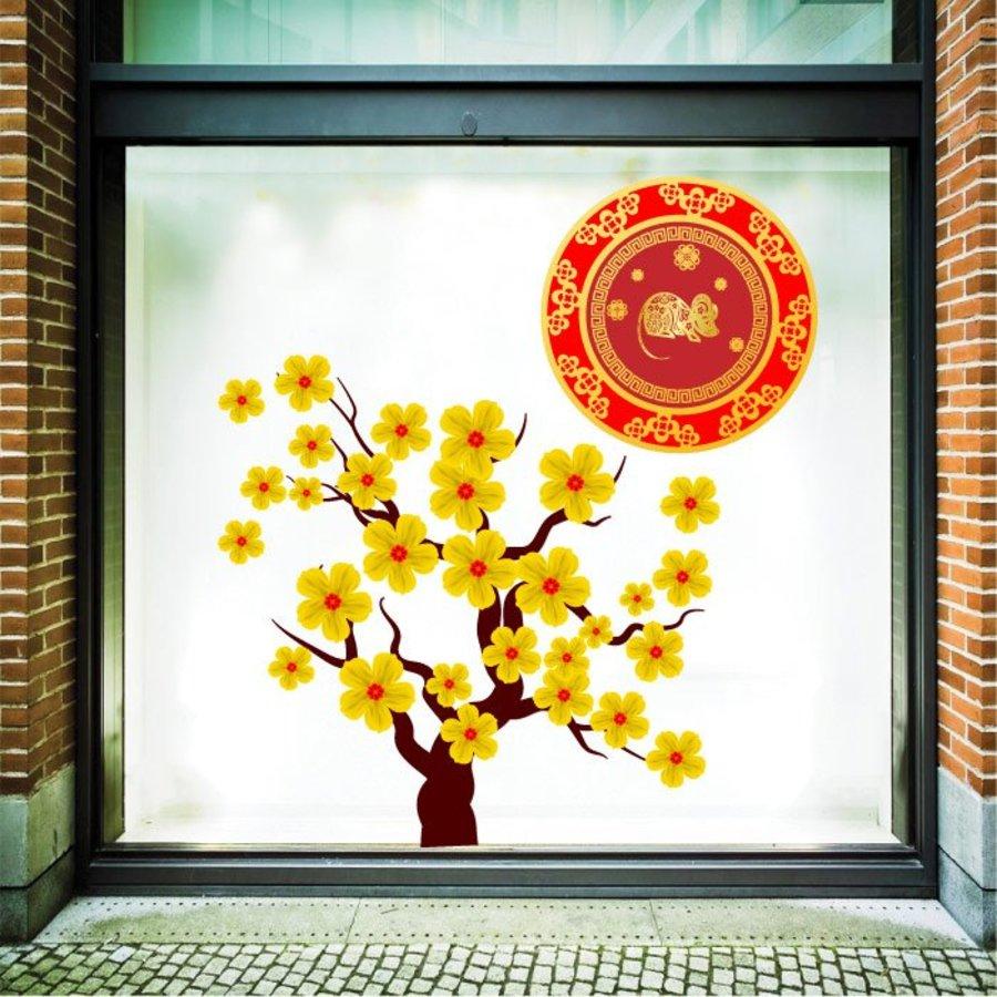 Decal cây mai vàng phúc lộc