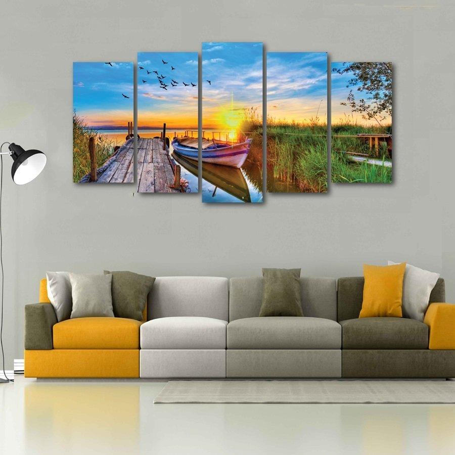 Tranh treo tường phong cảnh bến thuyền