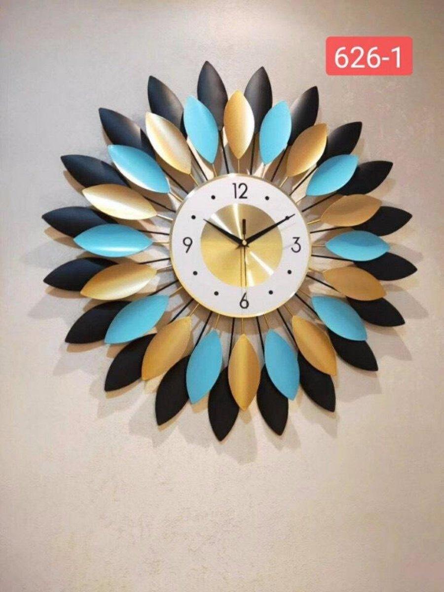 Đồng hồ đính đá treo tường bông hoa 2