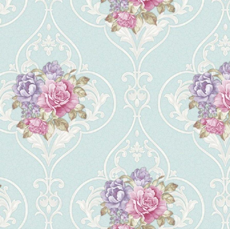 Giấy dán tường texture hoa hồng GHQ7704
