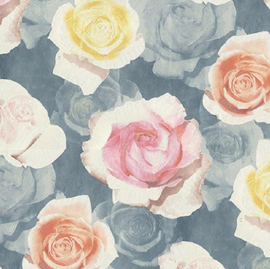 Giấy dán tường hoa hồng GHQ59001