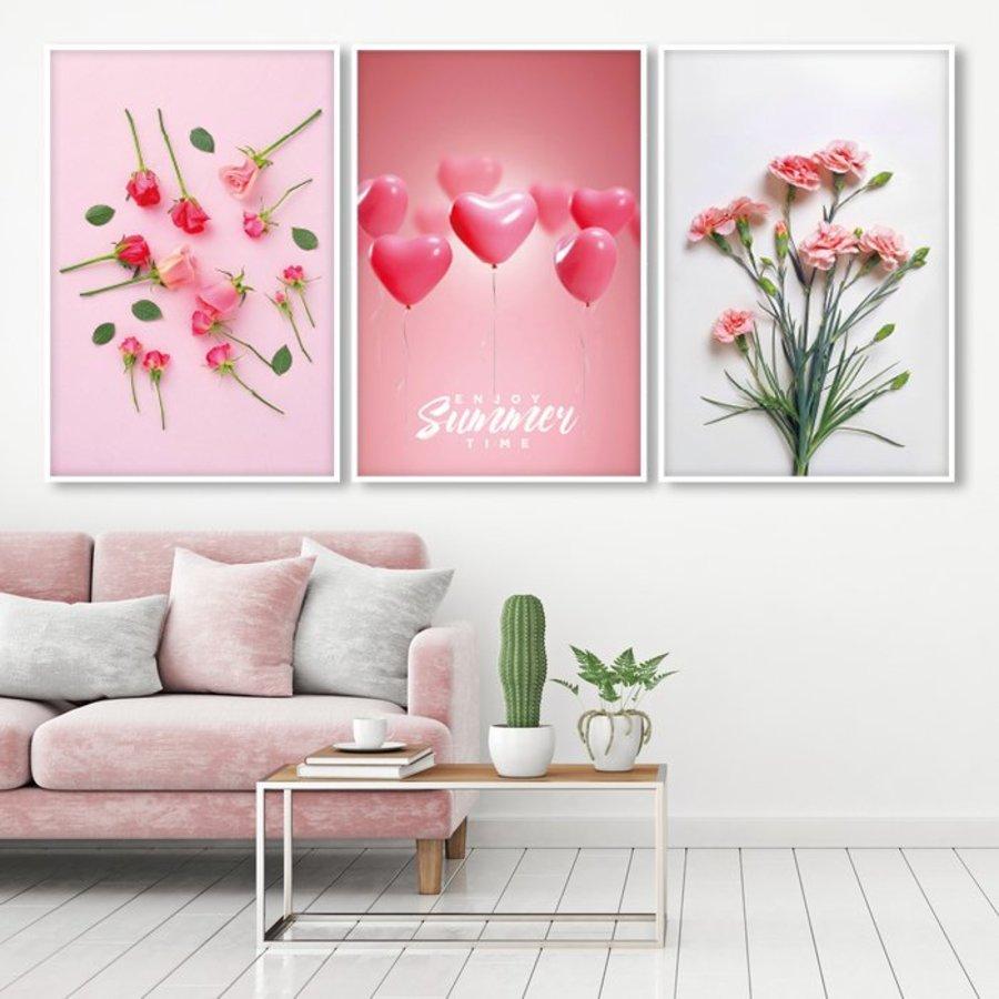 Tranh treo tường bóng bay và hoa