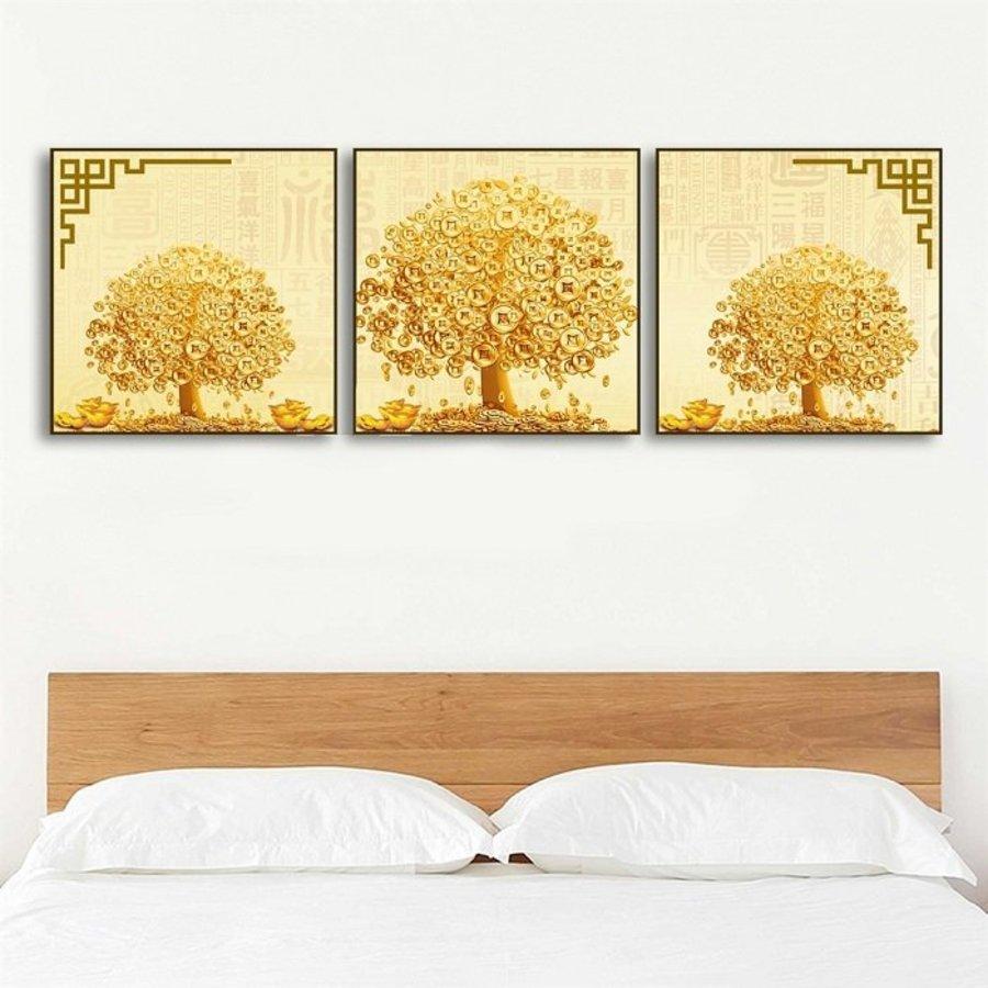 Tranh treo tường cây đồng tiền vàng 2