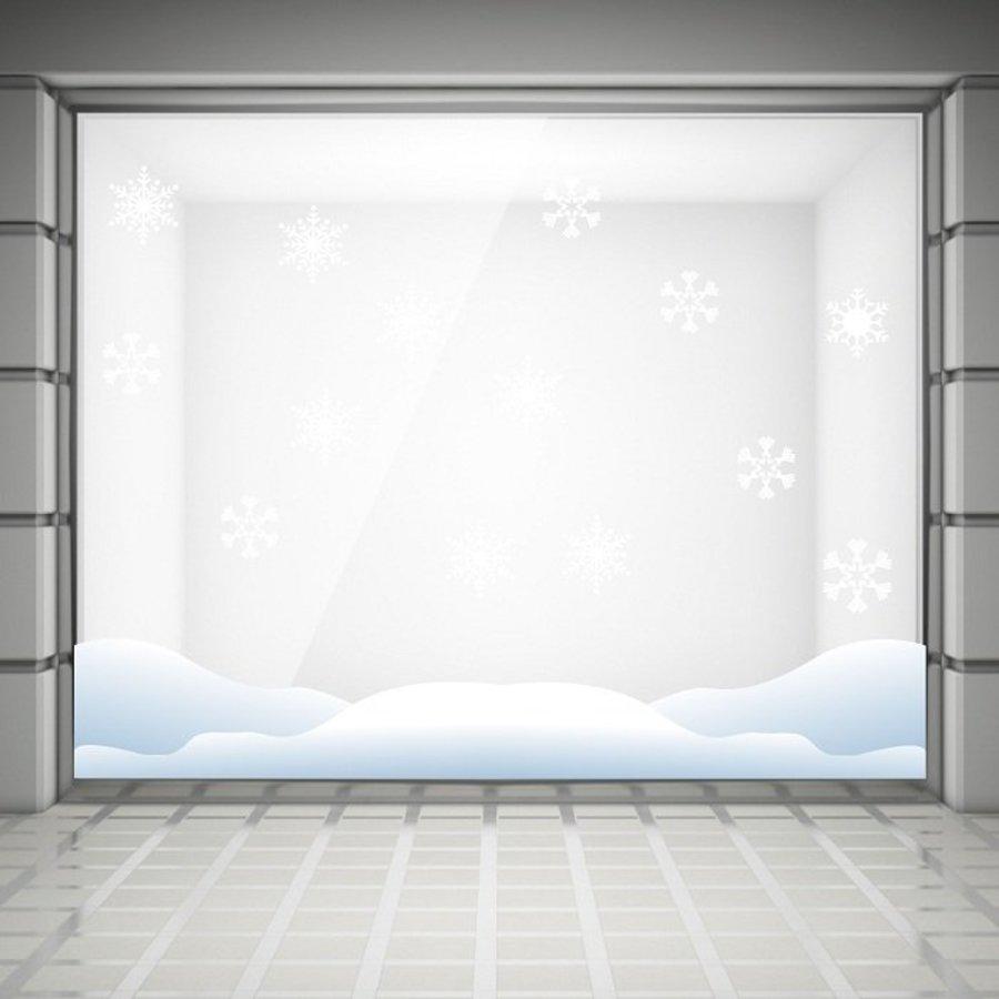 Decal trang trí noel chân tường tuyết