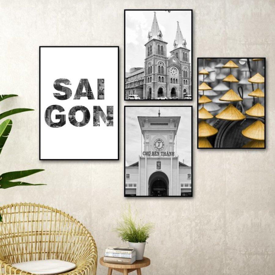 Tranh treo tường nghệ thuật Sài Gòn Trắng và đen