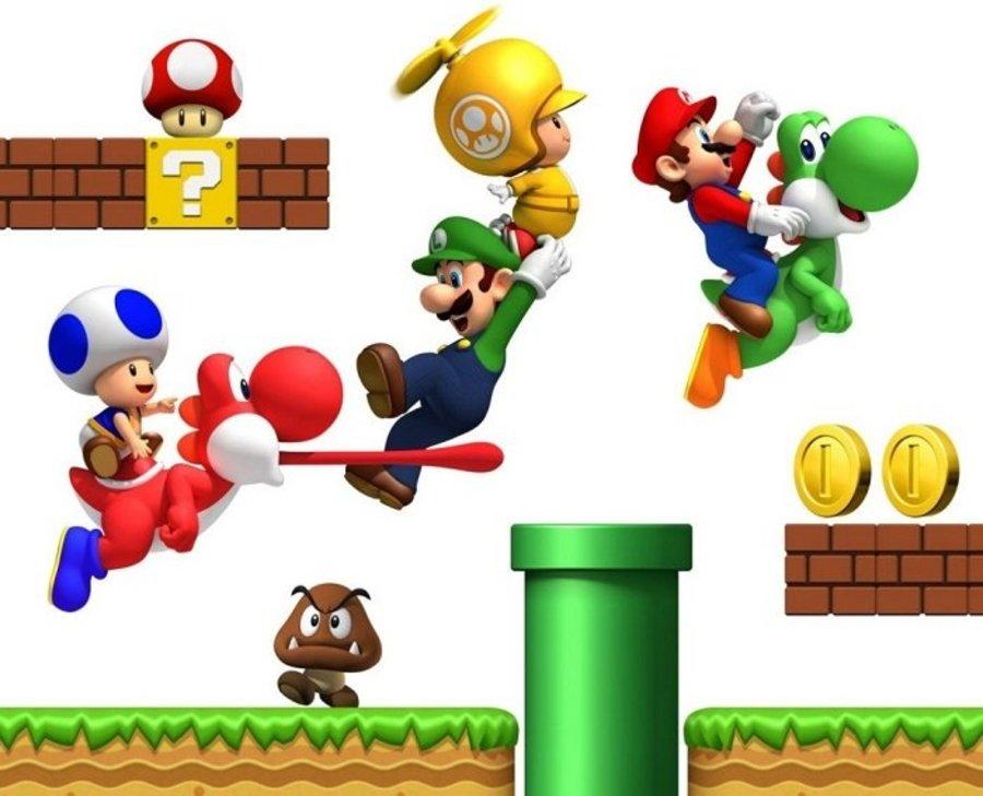 Decal 3D dán tường Mario
