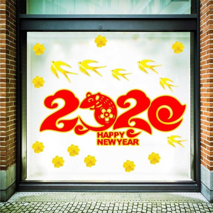 decal trang trí tết mừng xuân canh tý 2020 2