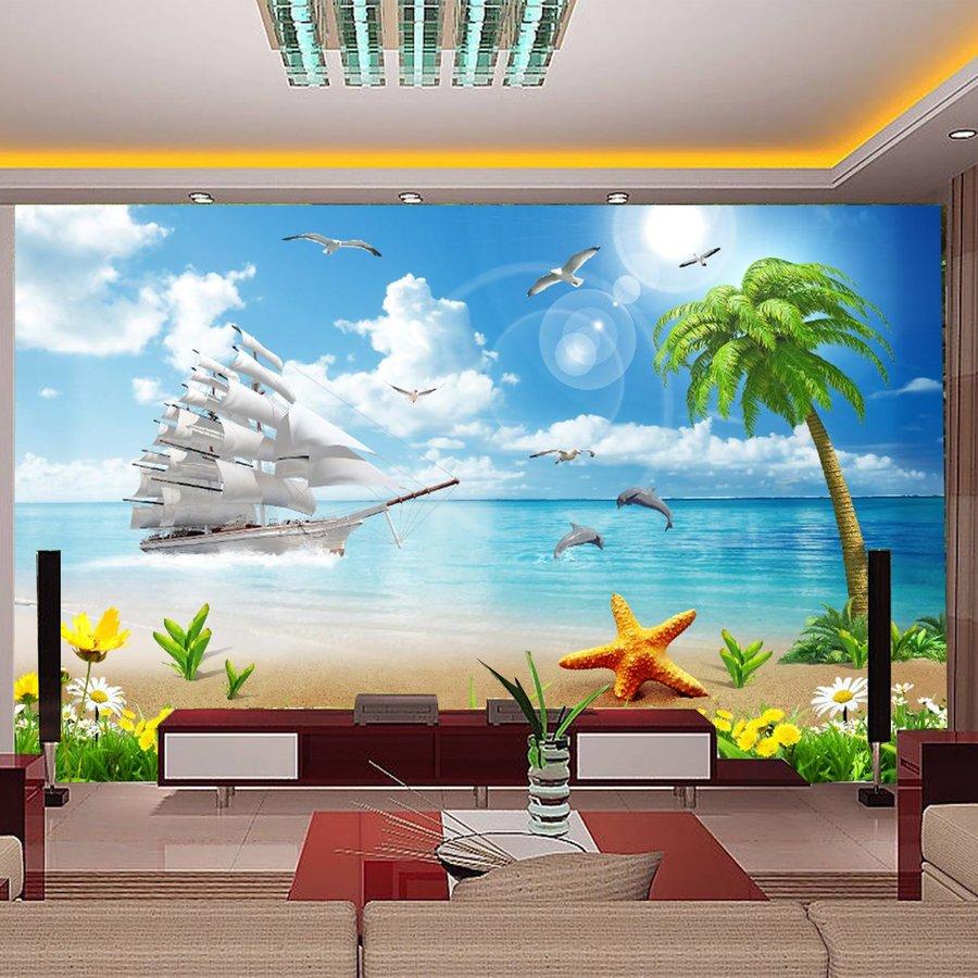 Tranh dán tường bãi biển
