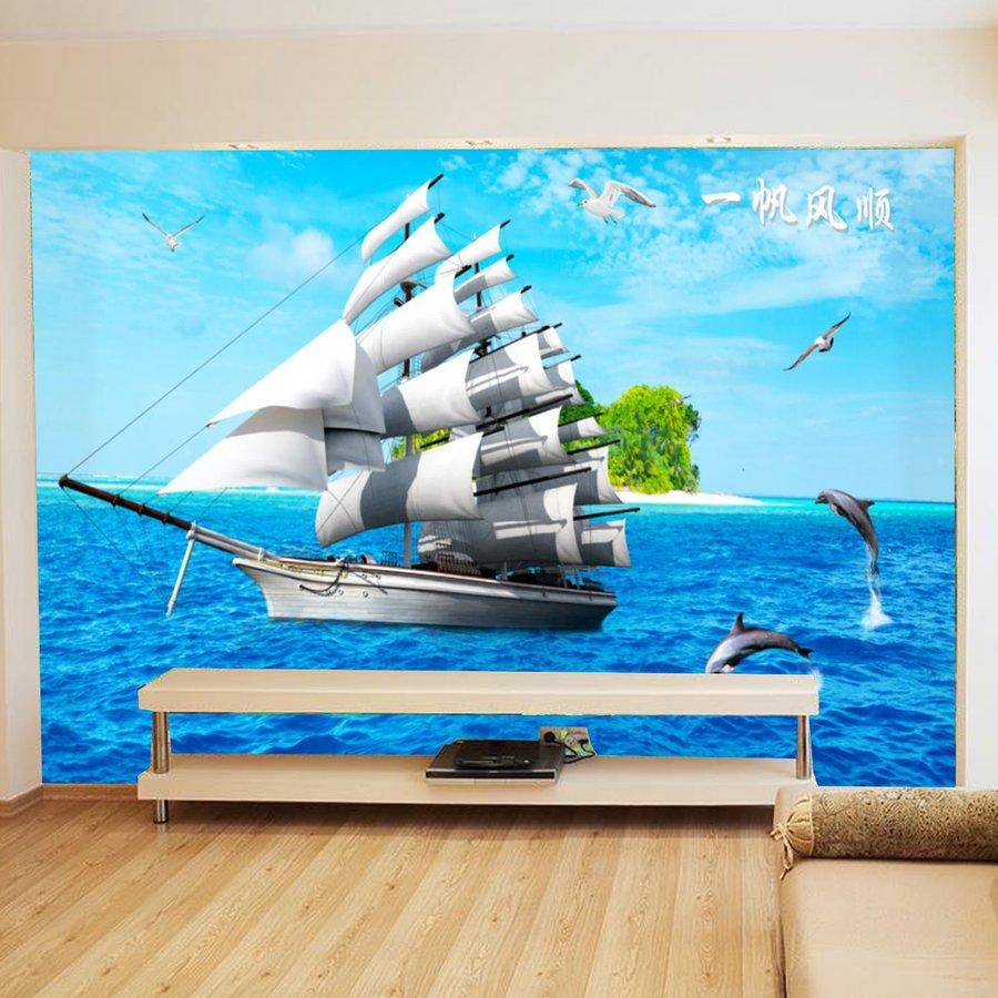 Tranh dán tường thuận buồm xuôi gió 2