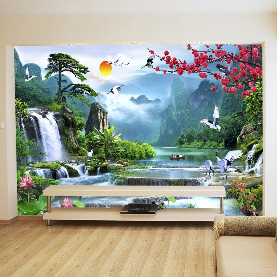 Tranh dán tường 3d sơn thủy