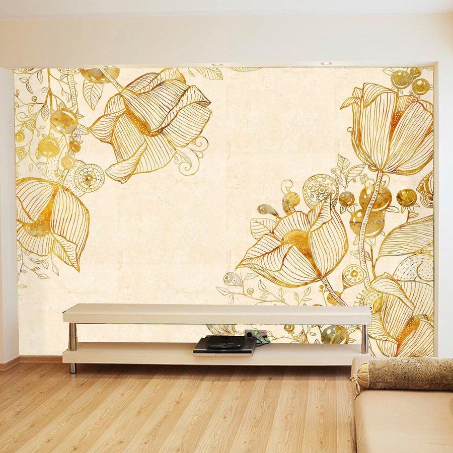 tranh dán tường họa tiết hoa