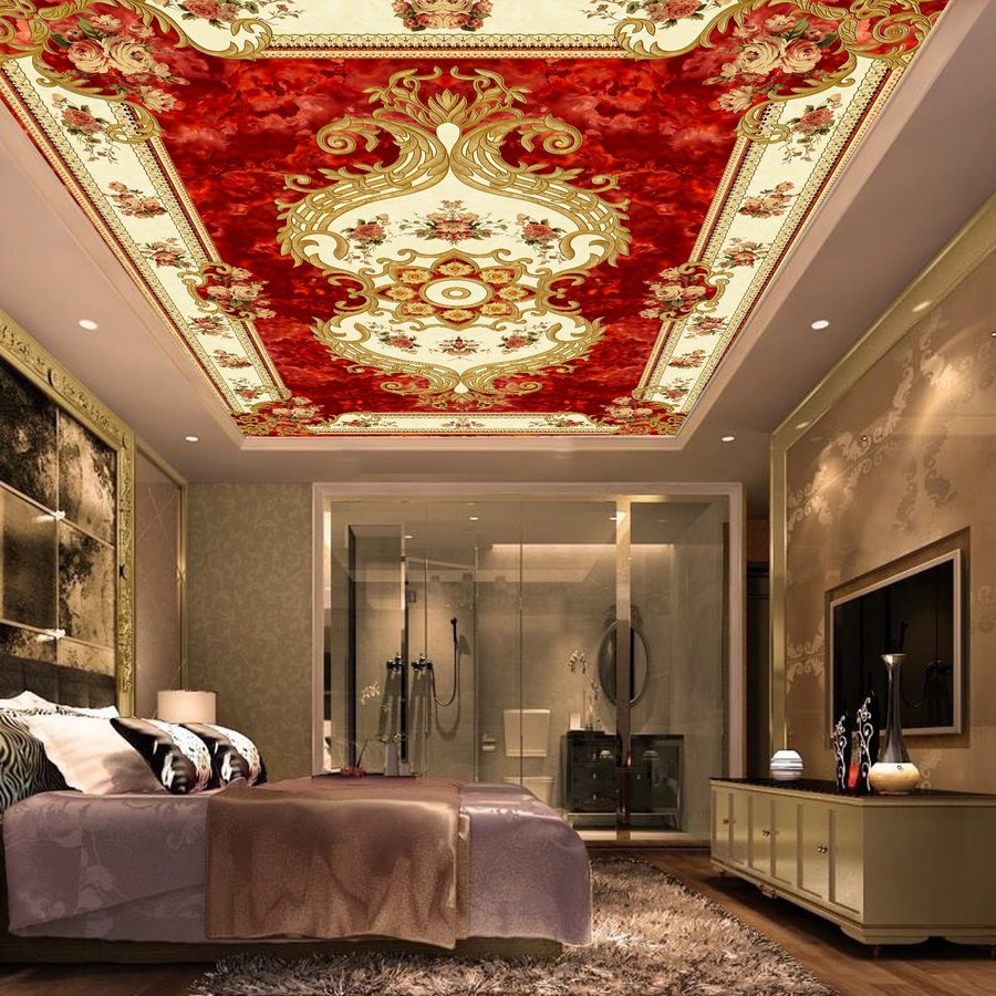 Tranh dán trần nhà 3D họa tiết 2
