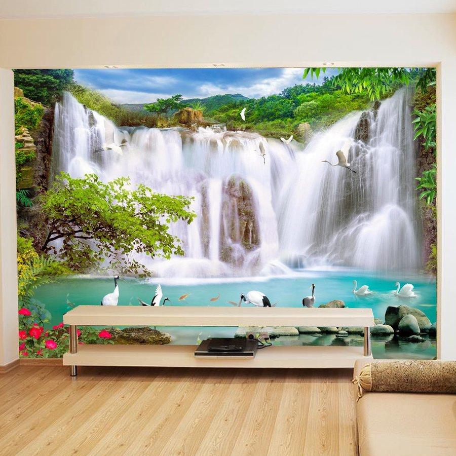 tranh dán tường quang cảnh thác nước