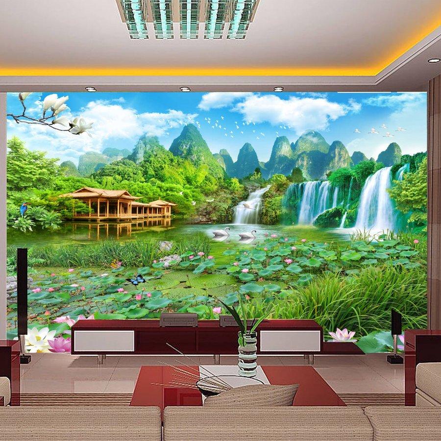 Tranh dán tường phong cảnh núi rừng 2