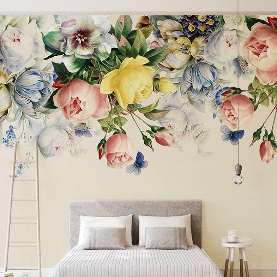 Tranh dán tường hoa sắc màu