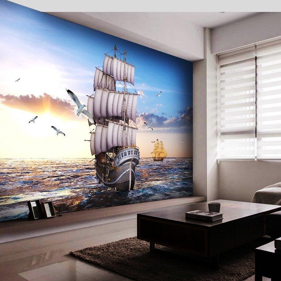 Tranh dán tường thuận buồm xuôi gió 10