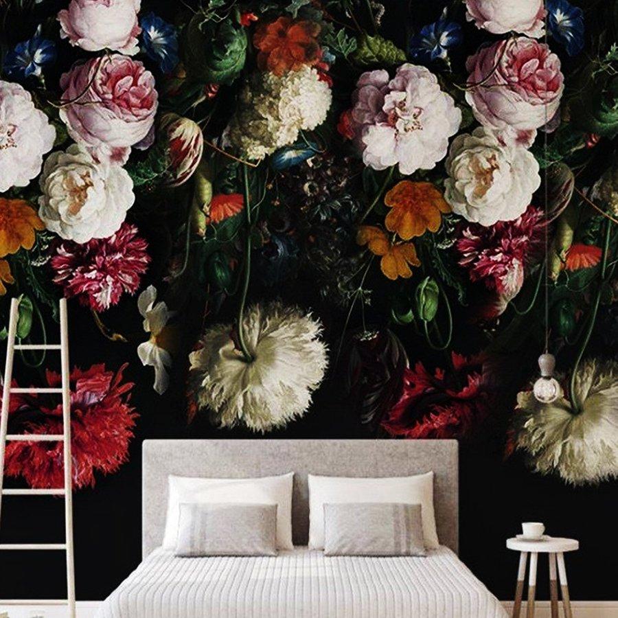Tranh dán tường sắc màu hoa