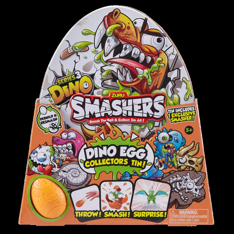 Bộ hộp đồ chơi sưu tập trứng siêu khủng long Smashers (Series 3) (TN)