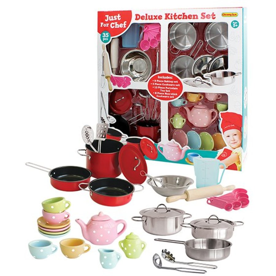 Bộ đồ chơi 35 dụng cụ nhà bếp cao cấp Champion (TN)