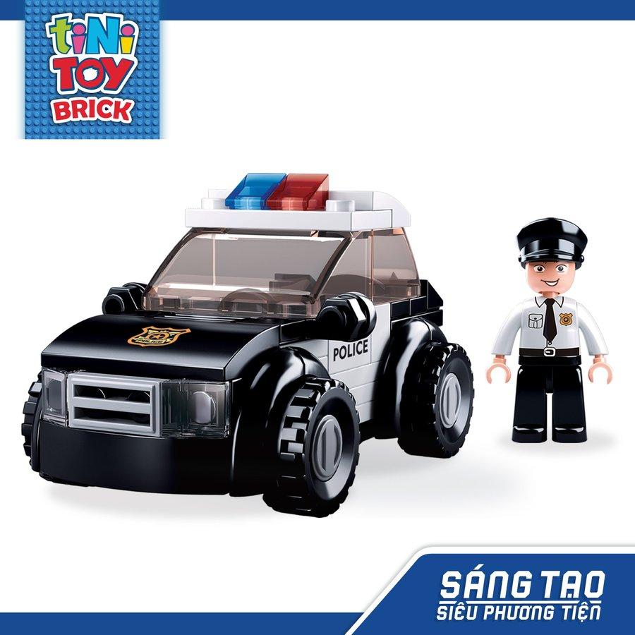Đồ chơi lắp ráp xe cảnh sát hình sự TINITOY BRICK (88 pcs) (TN)
