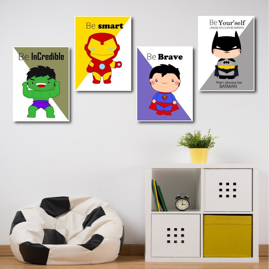 Tranh treo tường siêu anh hùng