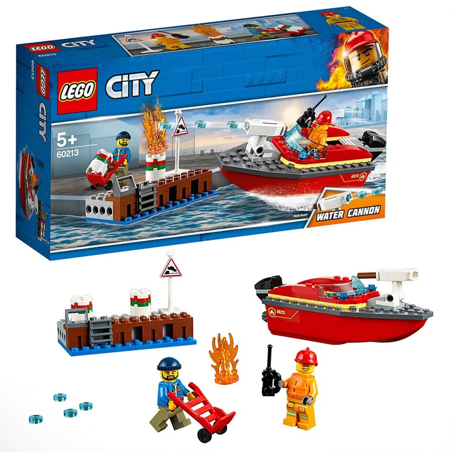 Mô Hình Lắp Ráp Cứa Hỏa Bến Tàu LEGO CITY 60213- Hàng chính hãng MYKINGDOM