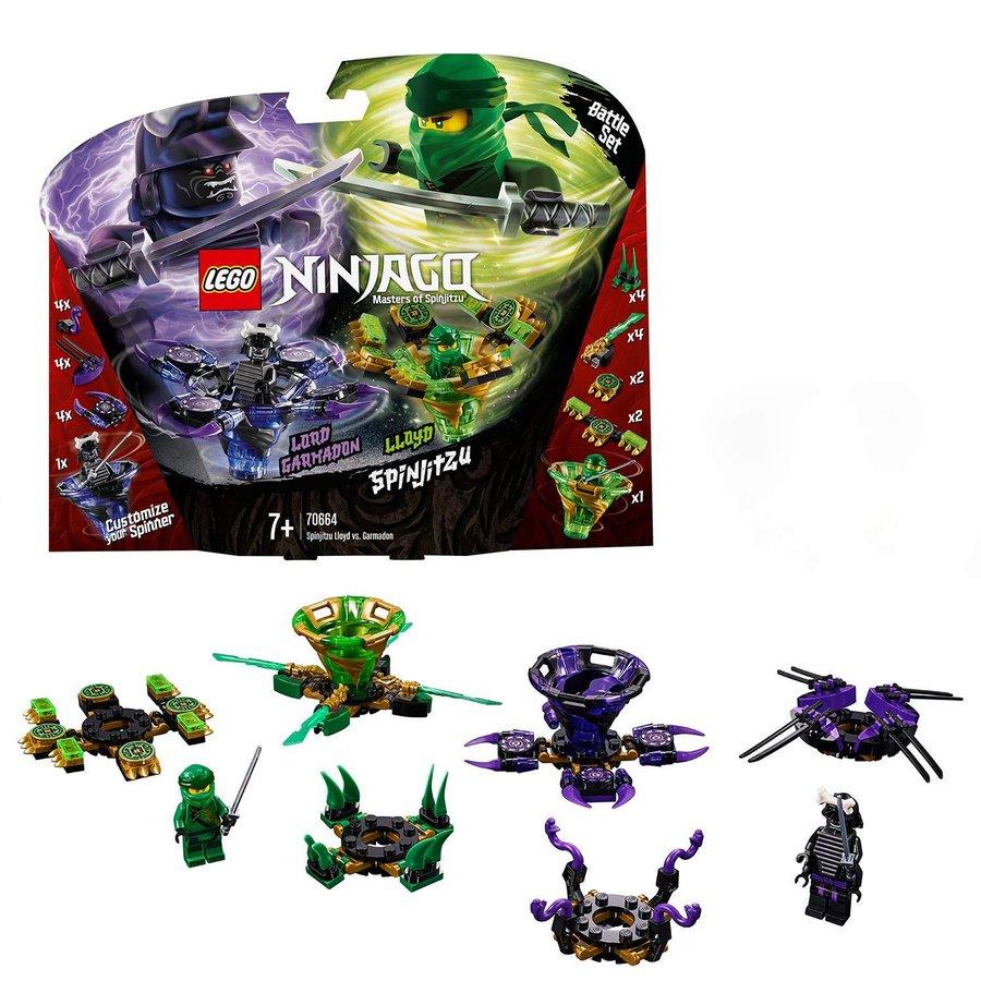 Đồ Chơi Xếp Hình LEGO Con Quay Lốc Xoáy Quyền Năng Đối Đầu Lốc Xoáy Hủy Diệt 70664- Hàng chính hãng MYKINGDOM