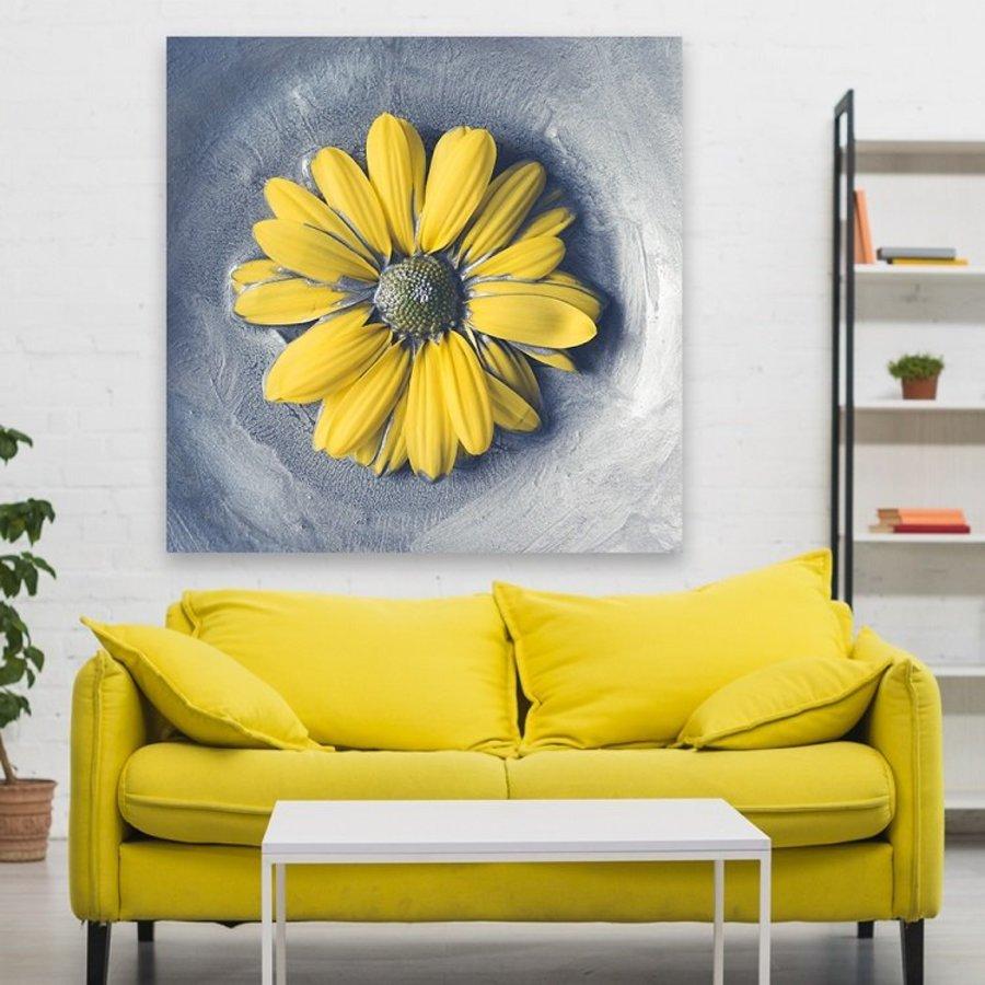 Tranh treo tường hoa cúc vàng 3D