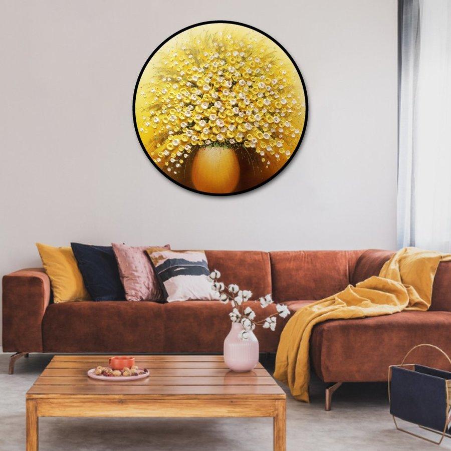 Tranh treo tường nghệ thuật hoa vàng 2