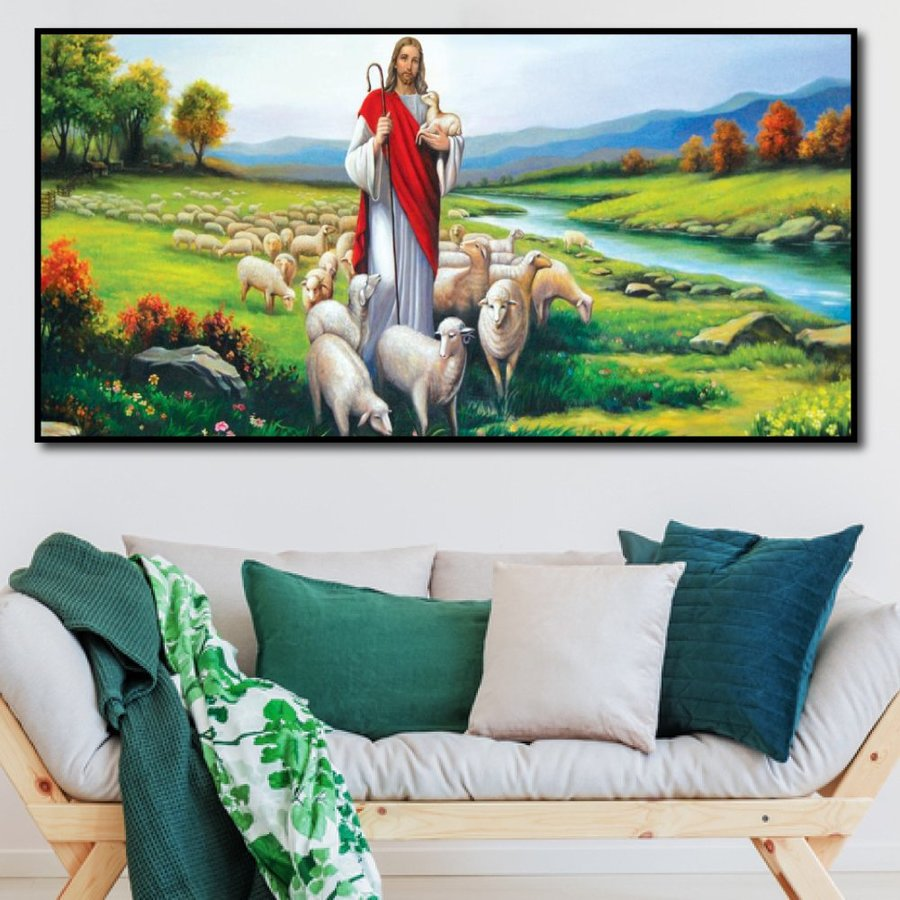 Tranh Treo Tường Thiên Chúa Dẫn Dắt Đàn Chiên