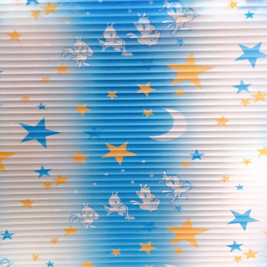 Decal cuộn kính mờ họa tiết trăng sao (011)