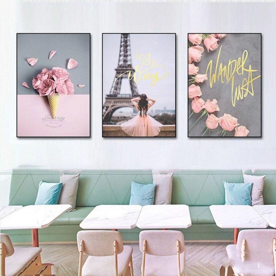 Tranh treo tường Paris lãng mạn