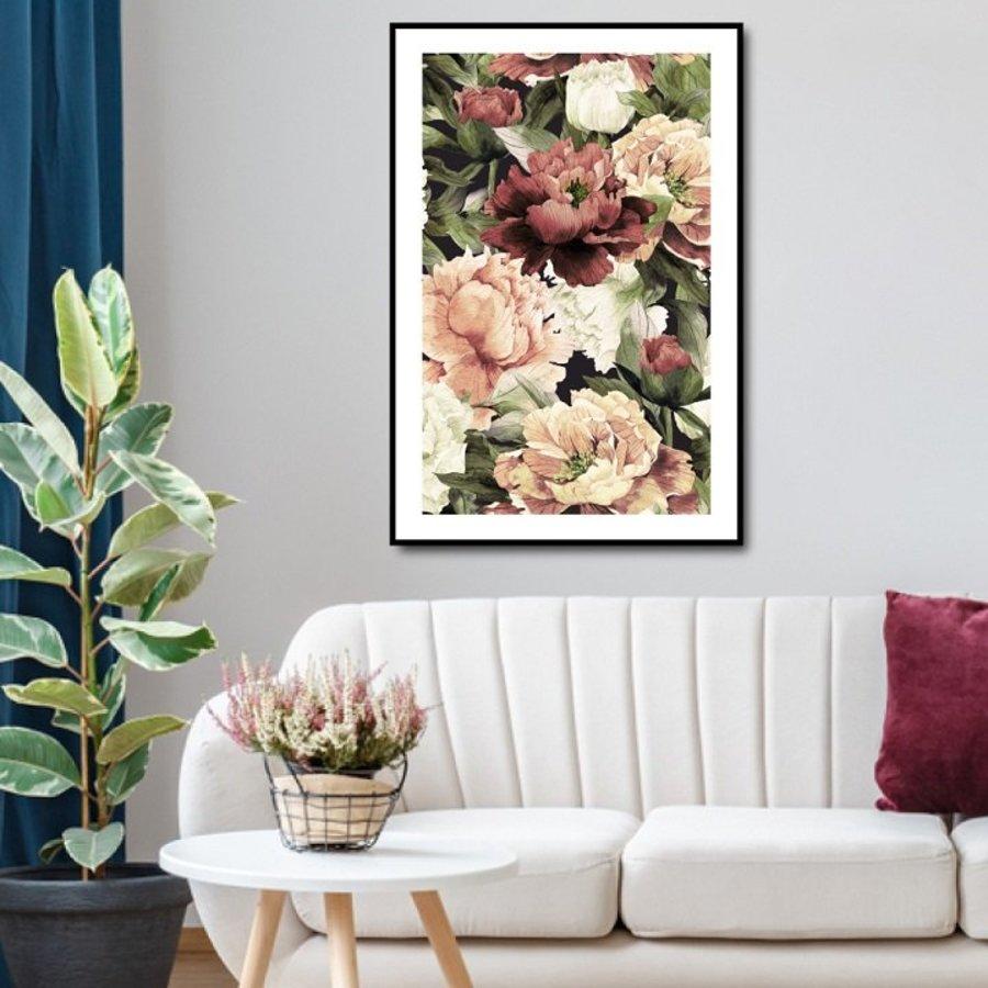 Tranh treo tường những bông hoa sặc sỡ