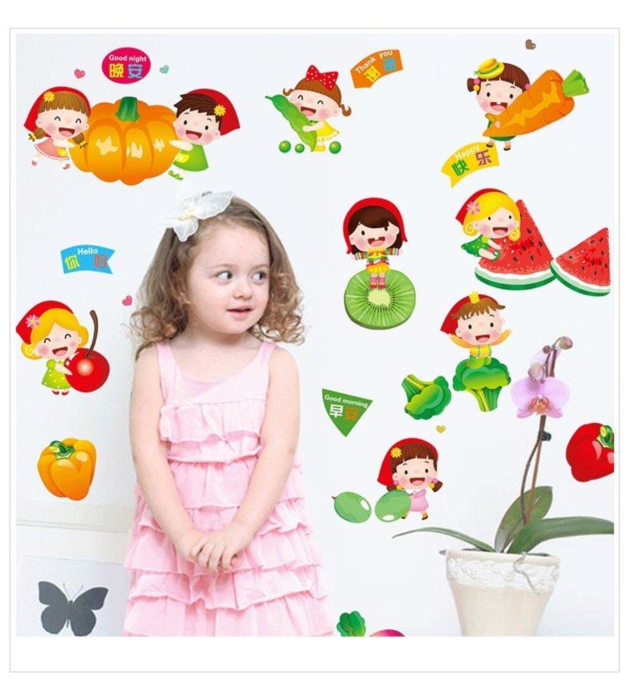 Decal dán tường trái cây cho bé