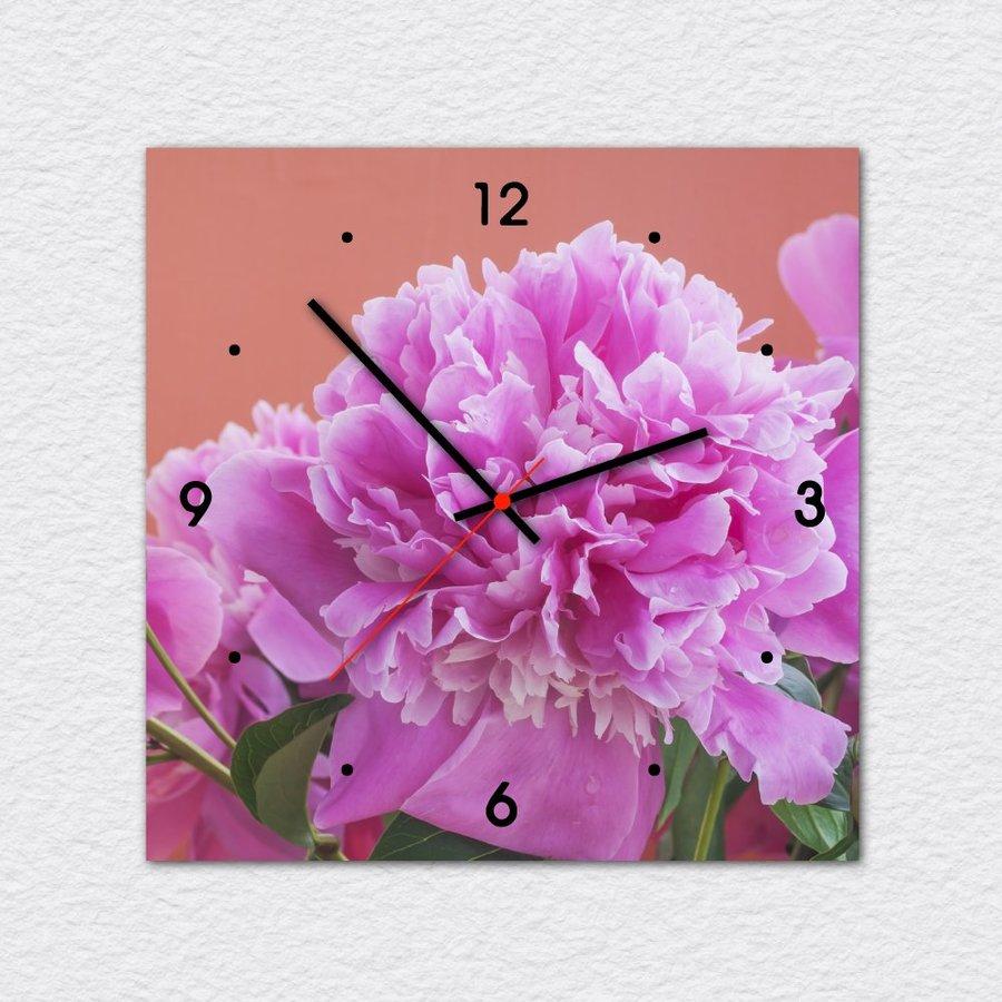 Tranh đồng hồ treo tường hoa hồng nở rộ