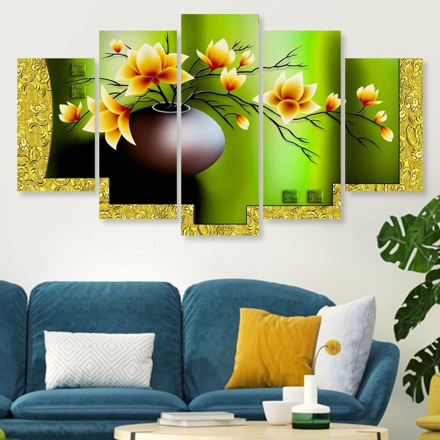 Tranh treo tường chậu hoa phong thủy