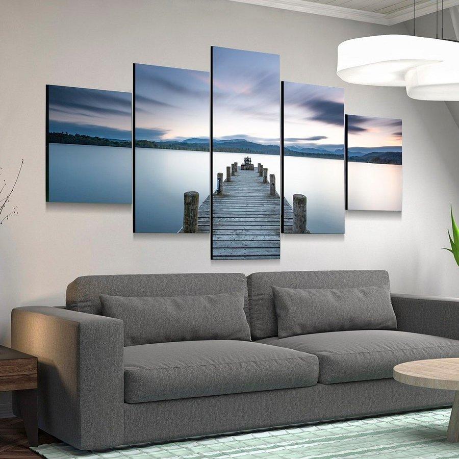 Tranh treo tường phong cảnh bình minh trên biển