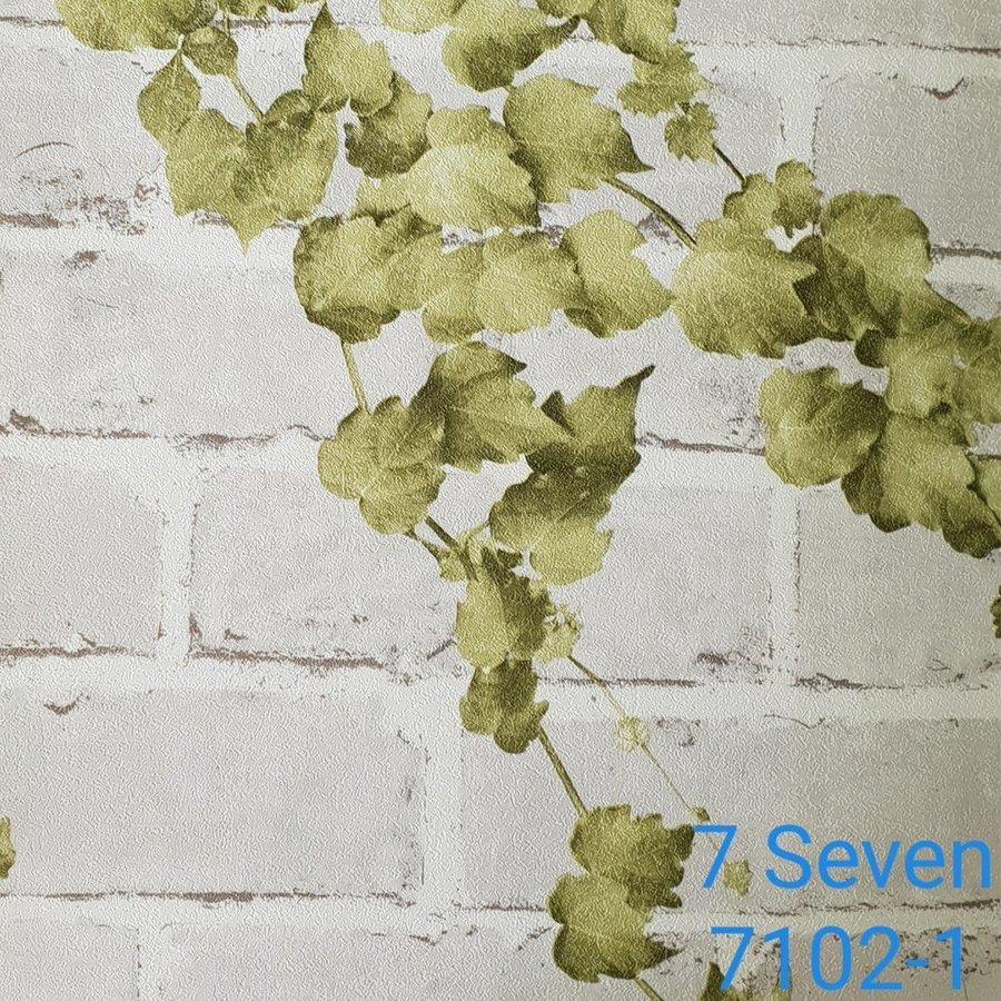Map giấy dán tường texture giả gạch trắng 7 Seven 7102-1