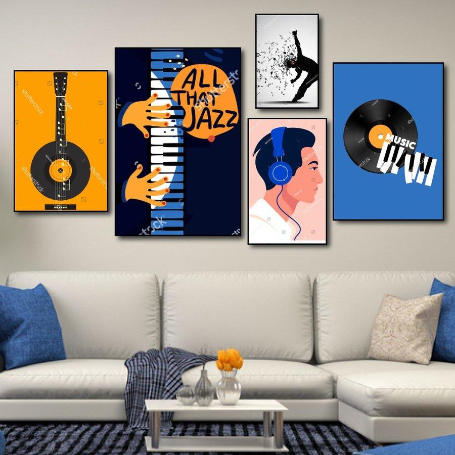 Tranh treo tường âm nhạc all that jazz
