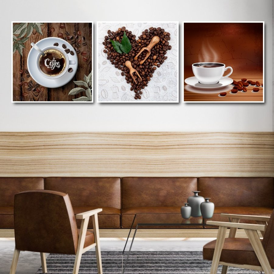 Tranh treo tường tình yêu coffee