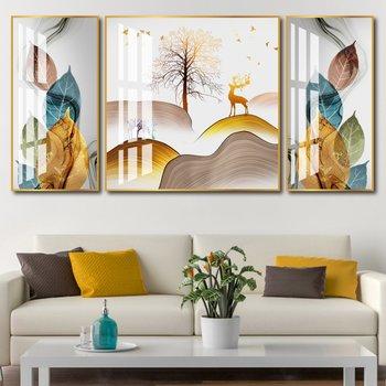 Tranh treo tường nghệ thuật rừng và nai