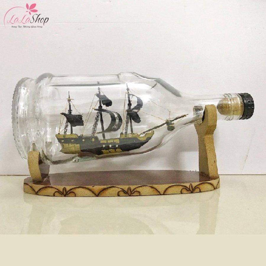 Thuyền trong chai phong thủy 20x8x10